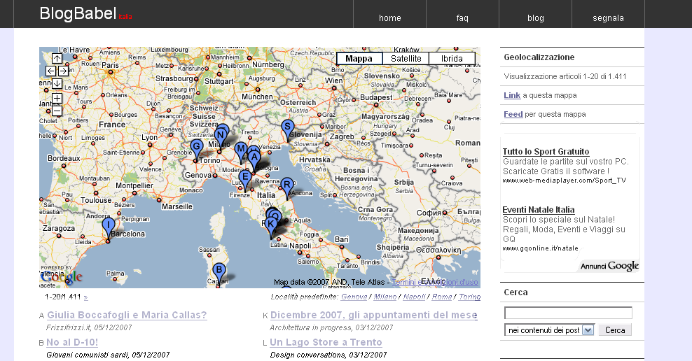 GeoLocalizzazione BlogBabel 1