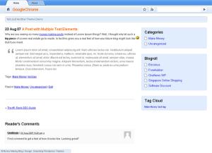 Tema GoogleChrome per WordPress