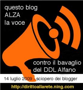 Questo Blog ALZA la voce contro il bavaglio del DDL Alfano