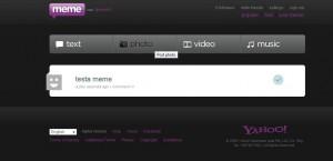 Dashboard di Yahoo meme