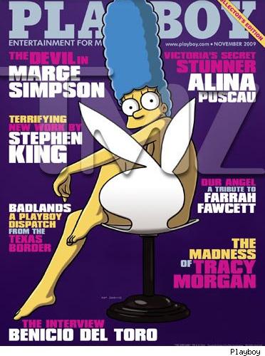 Marge Simpson sulla copertina di Playboy di Novembre 2009
