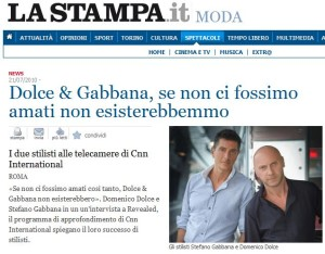 Lo screenshot dell'articolo de' LASTAMPA.it