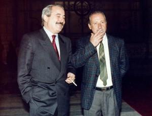 Paolo Borselino con Giovanni Falcone