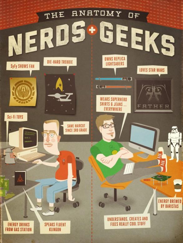 Nerd vs Geek in infografica