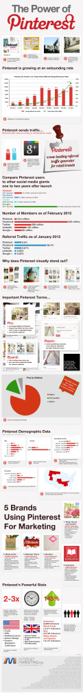 L'infografica The Power Of Pinterest