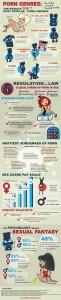 L'infografica Porn genres